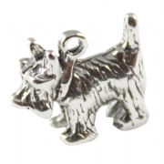 Scottie / Westie Dog 3D Sterling Silver Charms